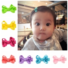 20pcs/lot Kids Hair Accessories Girls Hair Clips Small Ribbon Bow Hairpins Barrettes Headwear Boutique Wholesale 615(China)