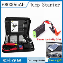 Portable Multi-Function 68000mAh 12V Car Jump Starter Emergency 400A Peak Car Charger 5V 2A Mini Power Bank SOS Lights Free Ship