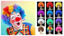 Top quality party afro wig colorful cosplay decoration clown funny cap new brazil football fans curly Colorful hat decoration