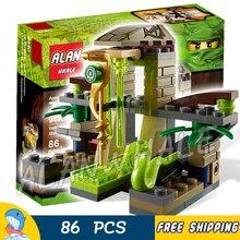 86pcs Ninja Venomari Shrine Zane ZX Snake Launch 9753 Model Building Blocks Assemble Kids Toys Bricks Compatible lego