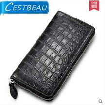 Cestbea French imported belly skin crocodile men wallet with crocodile skin men clutch bag(China)