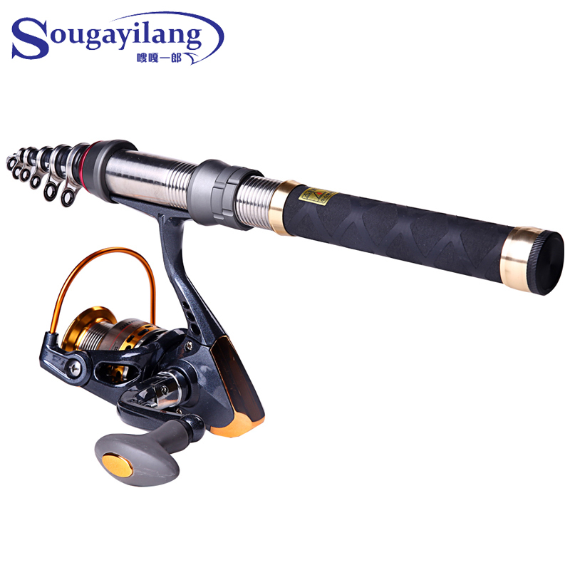 Low Profit Rod Combo 1.3M-2.4m Carbon Telescopic Fishing Rod And Sougayilang Brand 14BB Spinning Fishing Reel Fishing Tackle Set<br><br>Aliexpress