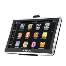 "KKMOON 7"" HD Touch Screen Car GPS Navigation 128MB RAM 4GB ROM FM MP3 Video Player Multi-language Vehicle GPS Navigators(China)"