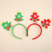 New 1PC Christmas headband Christmas Xmas Novelty LED Light Headband Deer Santa Snowman Pattern Christmas Tree Design