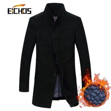 New Men's Wool Coat Jackets Outerwear Winter Fashion Slim Wool Coat Men Thicken Warm Men Wool Pea Coat Abbigliamento Uomo