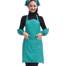 Hot Work Kitchen Apron for Women With Pockets Dining Promotional Aprons Housewife Essential Supplies 14Colors