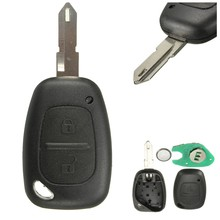 2 Button Remote Key Fob Shell for Renault Master Trafic for Vauxhall for Movano Interstar 2 BTN Remote Key Case Uncut Blade(China)