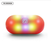 YK new mini Bluetooth wireless audio LED glare stereo speakers strong subwoofer portable player support TF card airplay speaker