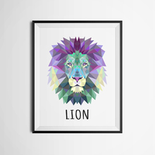 Geometric Lion Canvas Art Print Painting Poster, Wall Pictures for Home Decoration, wall decor FA237-22(China)