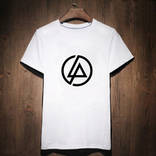 Linkin Park Print T-shirt Male Tshirt Men Tee Shirts Punk Rock Music Heavy Metal Music palace White Street wear Anime Lab