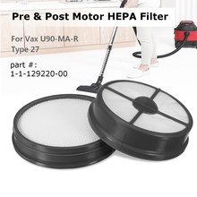 KROAK Type 27 Pre & Post Motor HEPA Filter Replacement For Vax Mach Air Vacuum Cleaner(China)