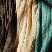 By Meter stripes linen crepe fabric crinkled cotton material dyed linen cotton fabric for curtains scarfs dress