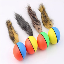 Pet Rolling Ball Funny Alive Dog Cat Animal Weasel Jumping Moving Rolling Motor Ball Pet Toy Kids Children Ball 1Pc