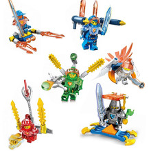 8pcs Nexo Knights Figure Castle Warrior Clay Macy Lance Balrog Building Blocks toys for children Toy Gifts Lepin