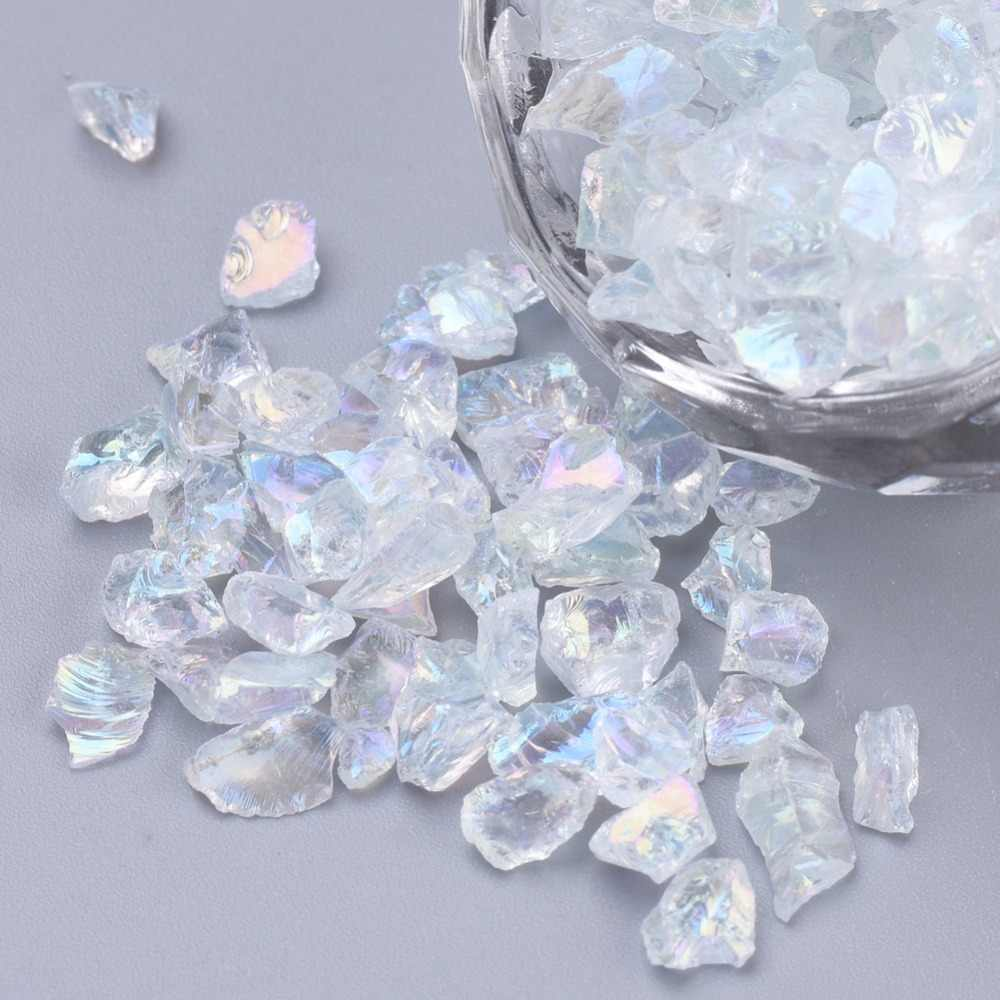 200g 8mm 15mm Undrilled Tumbled GEMSTONE Chip Beads NATURAL CLEAR CRYSTAL Z03