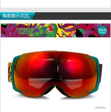 New green framework discount ski goggles unisex skiing and snowboarding ski goggles helmet goggles double lens anti-fog(China)