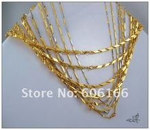 10pc Mixed Style High Quality 18K Gold Plate Stainless Steel Necklace Fashion Jewelry Free Shiping