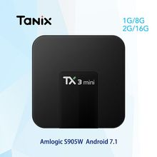 Tanix TX3 Мини Android 7,1 ТВ коробке 2 ГБ 16 ГБ Amlogic S905W 4 ядра 4 К Smart ТВ BOX HDMI 2,4 ГГц Wi-Fi PK tx3mini x96(China)