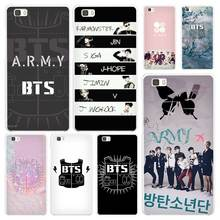 BTS Bangtan Boys music logo White Coque Shell Case Cover Phone Cases for Huawei P7 P8 P9 P10 Lite Mate s 7 8 9