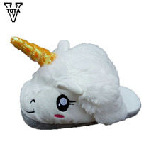 VTOTA Women Slippers winter Flat Shoes Woman Unicorn Cotton Home Slippers Plush Chausson Licorne Indoor Christmas Slippers x121