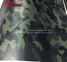 New Arrival Digital Printing Camouflage Vinyl Car Sticker Dark blue gren black Camouflage Vinyl film with Air free bubbles