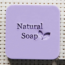 Natural soap leaf design soap stamp custom DIY new seal soap printed pattern resin acrylic stamp for soap(China)