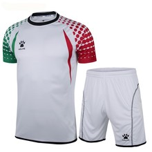 Kelme K15Z012 Men Short Sleeve With Side Protection Print Professional Competition Football Goalkeeper Suit White Green Red