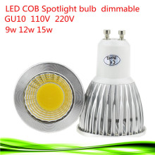 5X Super Bright 9W 12W 15W GU10 LED Bulb Lights 110V 220V Dimmable CREE Led COB Spotlights Warm/Natural/Cool White GU10 LED lamp