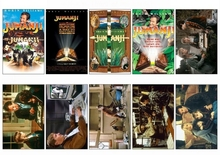10 pcs/lot Jumanji Series Movie Poster Picture Souvenir Card Sticker DIY Decoration Anti-Dust Bus ID Card Stickers 1242