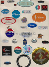 1000pcs custom printed color background Dome Epoxy label resin sticker printing