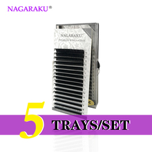 NAGARAKU 5 Trays/set J B C D Curl Length 7-15mm Mixed In One Tray Eyelash Extensions Individual Faux Mink Eyelash Lashes(China)