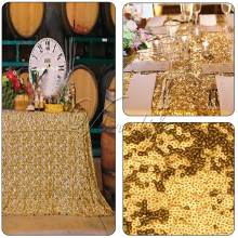 "ONE pcs Sequins Table Cloth for Wedding Party Decoration 40x60"" Top Quality Table Runner Cloth Gold  Table Cloth 27#"