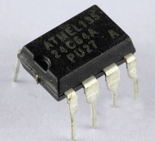 Free shipping 5pcs/lot 24C64 AT24C64 AT24C64N-10PU-2.7 DIP-8 2-Wire Serial EEPROM 64K BIT