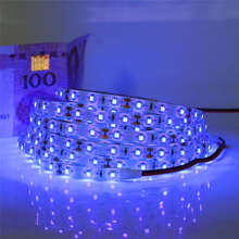 0.5 / 1 / 2 / 3 / 4 / 5m 60leds/m 12V UV Purple LED Strip light 3528SMD LED Fita ip20/ip65 Waterproof Ultraviolet LED Diode Tape(China)