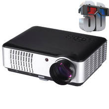 Hot sale !!! Native 1280*800 TV LED 3D smart projector Home Theater for video games  projector full hd projetor