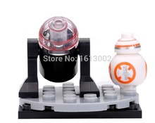 Single Sale Star Wars 7 Force Awakening R2-D2 Robot BB-8 BB8 Droid Falcon Bricks Building Blocks Toys for children Dargo 867A(China)