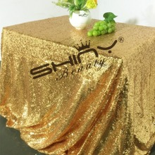 Gorgeous Luxury Wholesale 10pcs 60x120 Sequin Tablecloth Sparkly Simple Table Linens for Table Wedding/Party/EVENT/Decora(China)