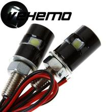 2Pcs 12V 55cm LED Motorcycle License Plate Screw Bolt Light Black Shell Low consumption Brand new Durable Long life