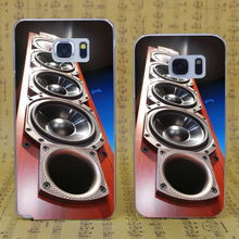 B4068 Tower Speakers Wood Transparent Hard PC Case Cover For Samsung Galaxy S 3 4 5 6 7 Mini Edge Plus Note 3 4 5 7