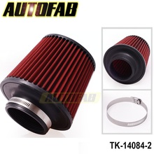 "AUTOFAB - 3"" 76mm Air Pod Filter Cold intake Cone Power Flow Turbo Inlet Direct For Honda Accord 03-05 AF-14084-2"