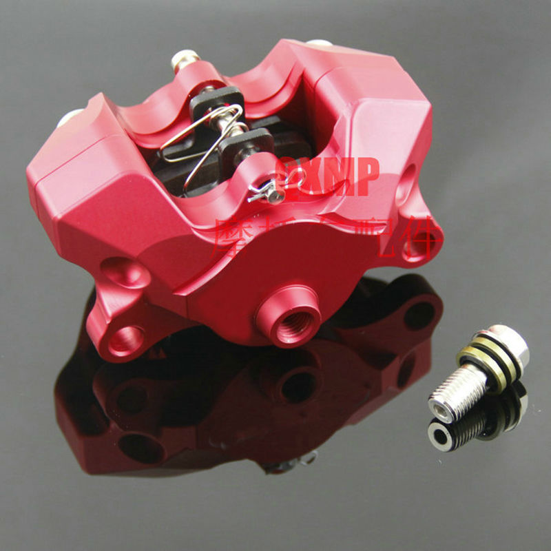 Hot new Motorcycle modification Universal CNC small crabs calipers power Rear Caliper brake pump under the double pistion hole<br>