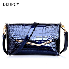 DDUPCY 2017 Hot Selling New Women Crocodile Grain Leather Handbag Hand The Bill Of Lading Shoulder Slope Across Packets(China)
