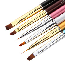 1pc Pro Nail Art Brush Pen 6 Styles Acrylic UV Gel Polish Tips Extension Brushes Tools Fild Liner Design Drawing Painting(China)