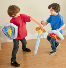 Children Inflatable Toys Sword Shield Combination Boy Inflatable Toys Outdoor Fun Sword Weapons Play Entertainment Toys