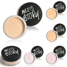 New Trendy Women's Makeup Loose Face Powder Setting Mineral Perfecting Finishing Foundation