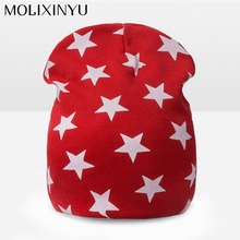 MOLIXINYU New Baby Cotton Cap Children Casual Thick Cap Autumn Winter Warm Comfortable Knitting Girl Hat Star Pattern Hat Unisex