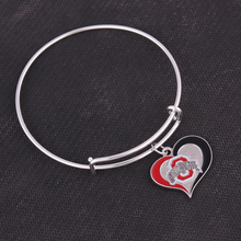 Florida State Ducks  Ohio Auburn Tigers Chicago Blackhawks  Georgia Bulldogs Football team logo swirl Adjustable charm  Bangle