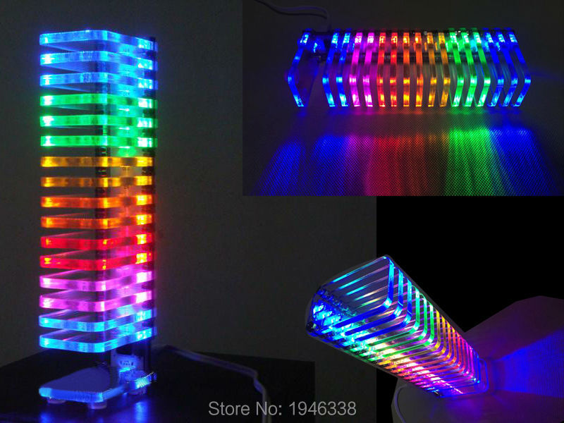 KS16 Fantasy Crystal VU Tower LED DIY Kit Music Spectrum<br><br>Aliexpress