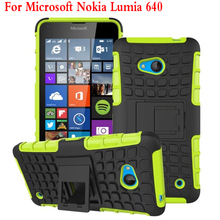 New For Nokia lumia 640 Phone Case Heavy Duty Armor Kickstand Hybrid Hard Composite TPU ShockProof Cover For Microsoft Lumia 640