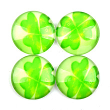 8-40mm  four-leafed clover glass dome cabochon setting pendant ,earring,ring,bracelet,brooch,bookmark making 20Pcs/Lot